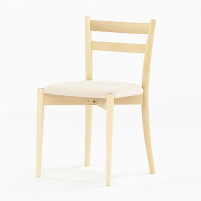 IDC OTSUKA/大塚家具 椅子リュッケ布デクレア4142/白木ブナ (ホワイトオーク)【返品不可商品】