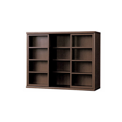 IDC OTSUKA/大塚家具 書棚 OF-120 スライドオープン ウェンジ (ウエンジ)【返品不可商品】