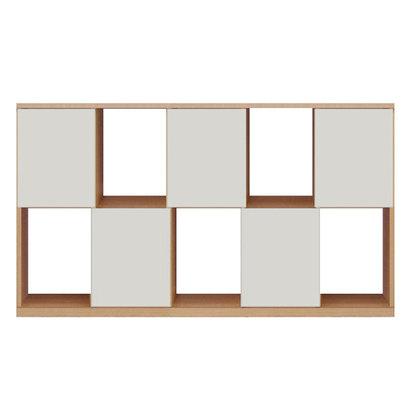 IDC OTSUKA/大塚家具 シェルフ ポンセル2 137 ナチュラル色:NA ホワイト色:WH (ナチュラル/ホワイト)【返品不可商品】