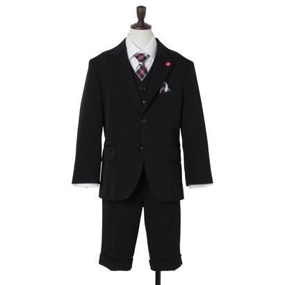 ザ ショップ ティーケー THE SHOP TK 【ボーイズ】ブラックスーツ7点セット (ブラック)