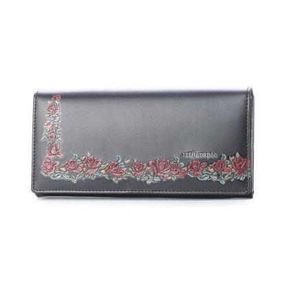 アルセラピィ artherapie ローズリース かぶせ長財布 (ブラック)