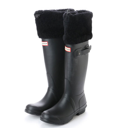 【アウトレット】ハンター HUNTER W ORG TALL BT SHEARLING CUFF (BLK)