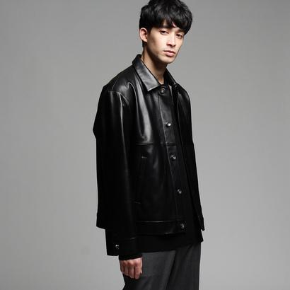 ティーケー タケオ キクチ tk.TAKEO KIKUCHI ラムレザートラッカージャケット (ブラック)