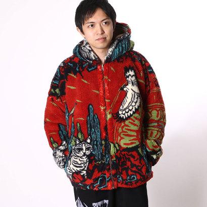 【チャイハネ】アリゾナMEN'Sフードジャケット(リバーシブル) レッド