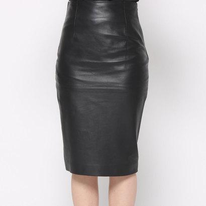 【アウトレット】ニューヨーク インダストリー New York Industrie Outlet レザースカート (ブラック)