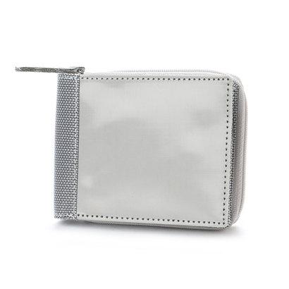 スチュワート スタンド STEWART/STAND ステンレス糸のジップコインケース付きウォレット/プレーン (シルバー/プレーン)