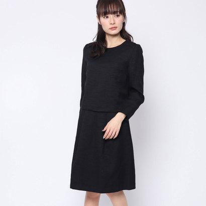 【あす楽】【交換・返品可能】/ブラックギャラリー/BLACK GALLERY/レディースアパレル/スーツ/ロコンド/ ブラックギャラリー BLACK GALLERY 後ろ開きトップスとスカートのセットアップスーツ (ブラック)