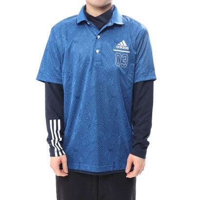 アディダス adidas メンズ ゴルフ 長袖 シャツ JP ADICROSS シティパターン レイヤードポロ M73661