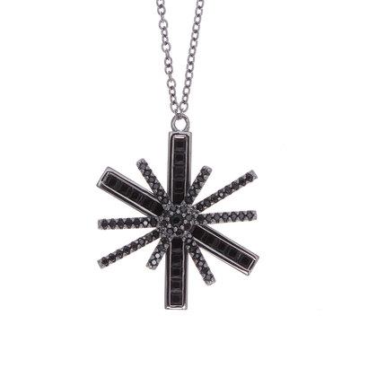 フォリフォリ Folli Follie STAR FLOWER ネックレス (ブラック)