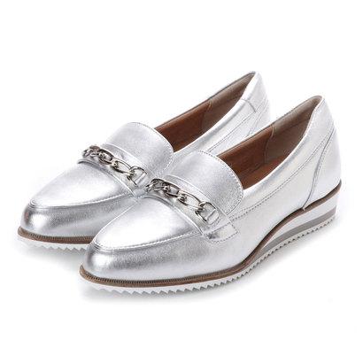 アンタイトル シューズ UNTITLED shoes チェーンデザインローファー (シルバー)