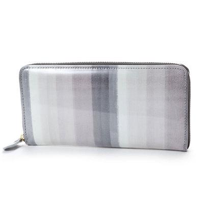 アンチフォルムデザイン Anti-Forme Design 【Afd】SOFT STRIPE ラウンド型財布 (ブラック)