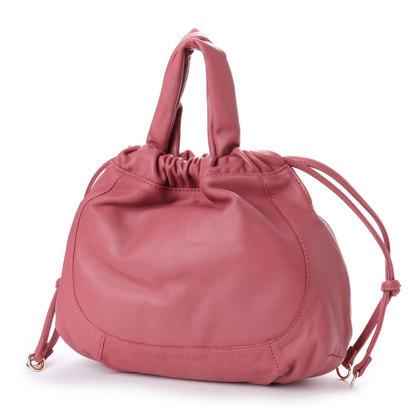 シュヴァル エレ Le cheval aile 巾着型レザーミニ手提げバッグ (ピンク)