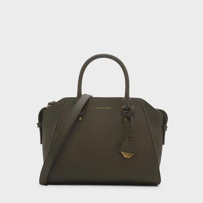 ストラクチャード トップハンドルバッグ / STRUCTURED TOP HANDLE BAG (Olive)