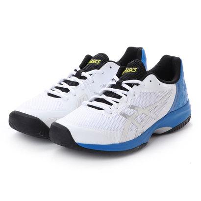 アシックス asics メンズ テニス オムニ クレー用シューズ ゲルコート スピードOC TLL800 228 (ホワイト)