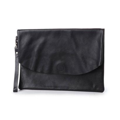 ビカーシ BICASH レザークラッチバッグ (BLACK)