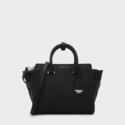 クラシストラペーズトートバッグ / CLASSIC TRAPEZE TOTE BAG (Black)