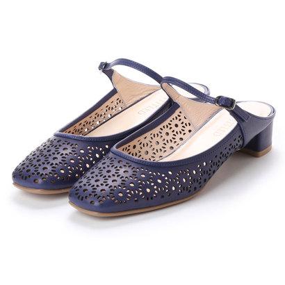 アンタイトル シューズ UNTITLED shoes レーザーカットミュール (パープル)