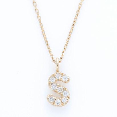 ソーイ sowi 【K10・ダイヤモンド】イニシャル ネックレス S (ゴールド)
