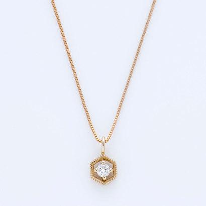 ソーイ sowi 【K10・ダイヤモンド】幸せを運ぶもの 蜂の巣 ネックレス (ゴールド)