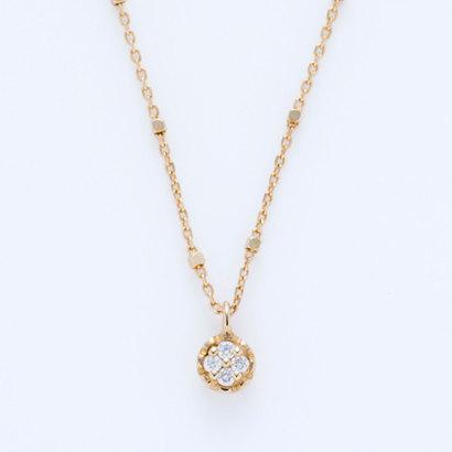 ソーイ sowi 【K10・ダイヤモンド】幸せを運ぶもの 綿毛 ネックレス (ゴールド)