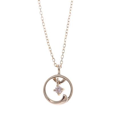 ソーイ sowi 【K10・ダイヤモンド】幸せを運ぶもの 風ネックレス (ゴールド)