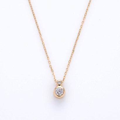 ソーイ sowi 【K10・ダイヤモンド】2ピースダイヤモンド ネックレス (ゴールド)