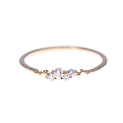 ソーイ sowi 【K10・ダイヤモンド】幸せを運ぶもの 水 リング (ゴールド)