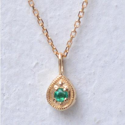 ソーイ sowi 【K18・誕生石】12の宝石のしずくたち 5月 (エメラルド)