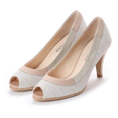 【アウトレット】アンタイトル シューズ UNTITLED shoes オープントゥパンプス (オフホワイトファブリック)