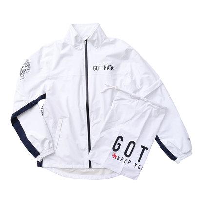 ガッチャゴルフ Gotcha Golf セットアップレインJKT (シロ)