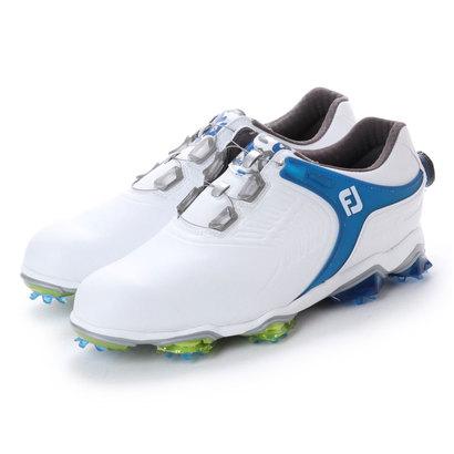 【アウトレット】フットジョイ FootJoy メンズ ゴルフ ダイヤル式スパイクシューズ 18 TOURS ボア WT/BL 9248854754 54