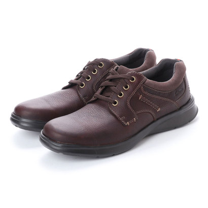 クラークス Clarks Cotrell Plain Brown Oily Lea (ダークブラウン)