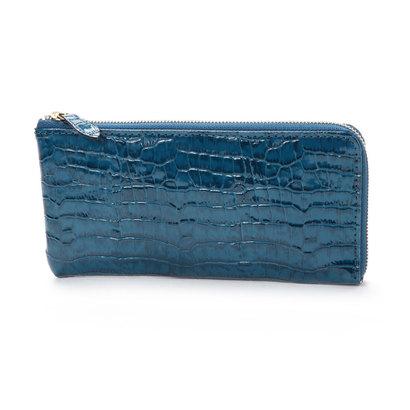 アンチフォルムデザイン Anti-Forme Design 【Afd】CROCODILE L字型財布 (ブルー)