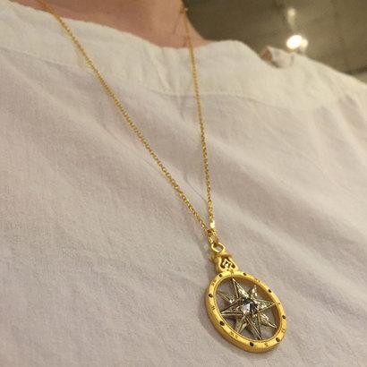 ファトラ FATRAS 【シルバー】コンパス ネックレス (ゴールド)