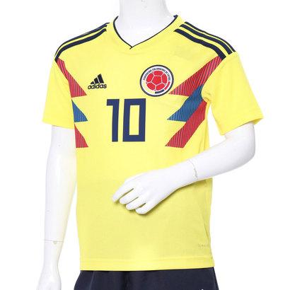 アディダス adidas ジュニア サッカー/フットサル ライセンスシャツ キッズモデル。コロンビア代表、ホームレプリカユニフォーム(10番 ハメス) BR3509