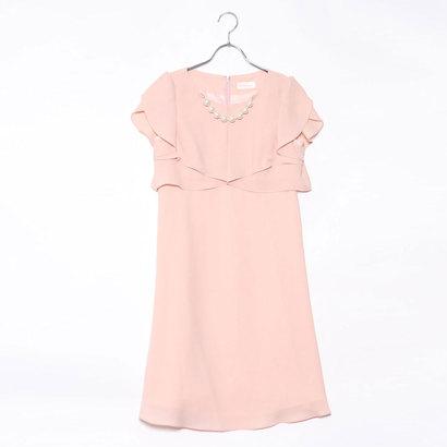 【アウトレット】ジュネビビアン Genet Vivien パールアクセ付きドレス (ピンク)