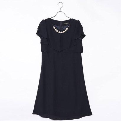 【アウトレット】ジュネビビアン Genet Vivien パールアクセ付きドレス (ネイビー)