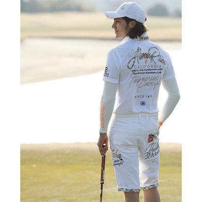ガッチャゴルフ Gotcha Golf GGボタニカル柄使いスーパーストレッチショーツ (シロ)