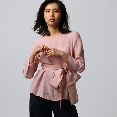 アンタイトル UNTITLED [L]【洗える】ゴンマートサフィランシャーリング袖ブラウス (ピンク)