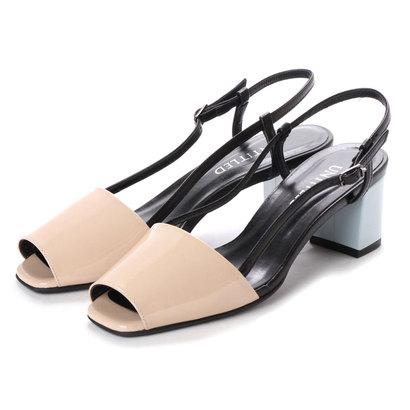 【アウトレット】アンタイトル シューズ UNTITLED shoes バックベルトサンダル (ライトベージュコンビ)