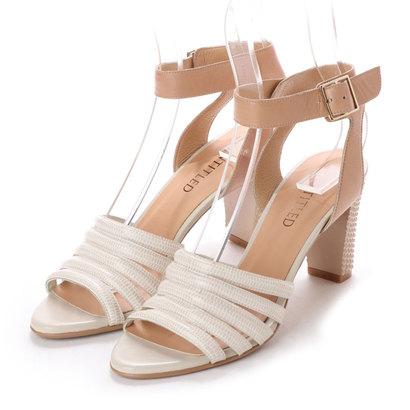 【アウトレット】アンタイトル シューズ UNTITLED shoes アンクルストラップサンダル (ライトベージュカタオシ-A)