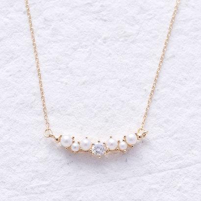ソーイ sowi 【K18・ダイヤモンド】スノードロップコレクション シードパール×ダイヤモンドネックレス (ゴールド)