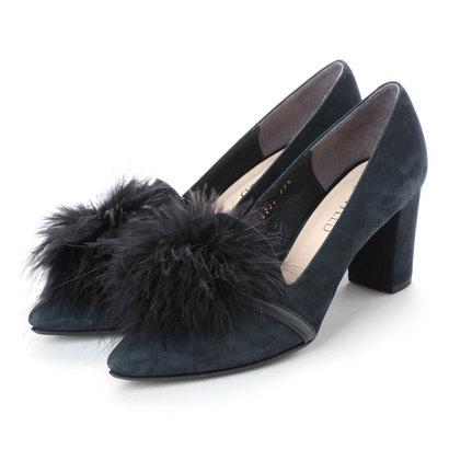 【アウトレット】アンタイトル シューズ UNTITLED shoes モチーフパンプス (ネイビーヌバック)