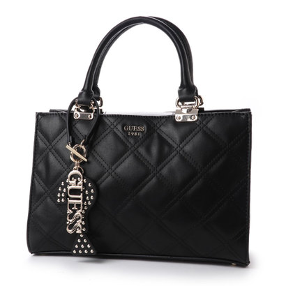 ゲス GUESS STATUS GIRLFRIEND SATCHEL (BLACK)