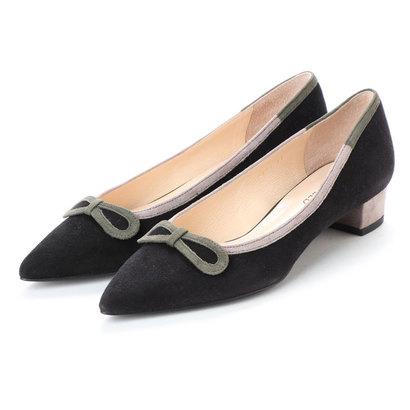 【アウトレット】アンタイトル シューズ UNTITLED shoes パンプス UT4305 (ブラックスエードコンビ)