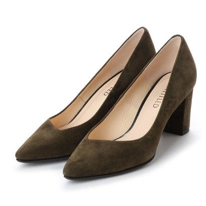 【アウトレット】アンタイトル シューズ UNTITLED shoes ポインテッドプレーンパンプス (カーキスエード)