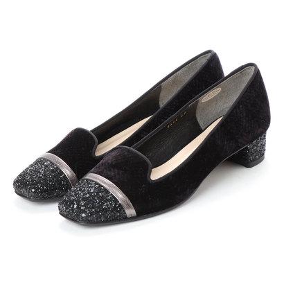 【アウトレット】アンタイトル シューズ UNTITLED shoes オペラパンプス (ブラックベルベットコンビ)