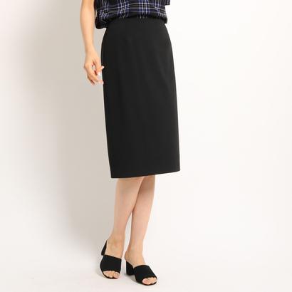 インディヴィ INDIVI マドラスチェックタイトスカート (ブラック)