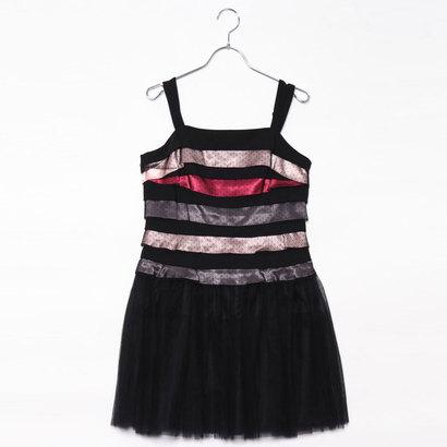【アウトレット】ジュネビビアン Genet Vivien ティアードドットドレス (ピンク)