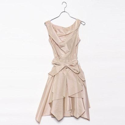 【アウトレット】ジュネビビアン Genet Vivien 2WAY巻きスカートドレス (ベージュ)